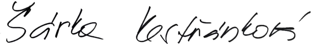 šárka kestřánková podpis
